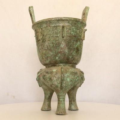 青铜�邢笫兹�足�星嗤�钾青铜器古玩古董博物架摆件博物馆收藏礼品