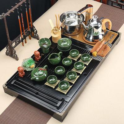 茶具套装家用功夫茶盘整套四合一现代全自动泡茶实木茶台荼具