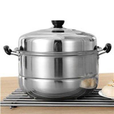 热销不锈钢蒸锅三层加厚家用电磁炉汤锅具蒸格蒸笼馒头3层二2双层