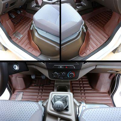 金杯T30单排T32双排T50改装T52专用汽车丝圈脚垫小货车T20全包围