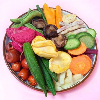 果蔬脆混合果蔬干什锦孕妇零食综合蔬果干儿童香菇脆秋葵干蔬菜干