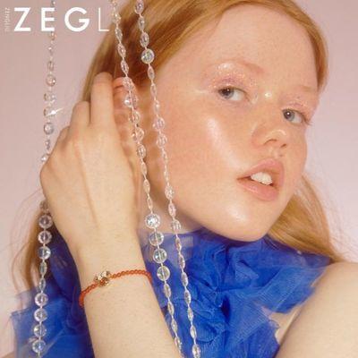 迪士尼ZEGL米奇设计师款米老鼠玛瑙手链女鼠年本命年礼物情侣手饰