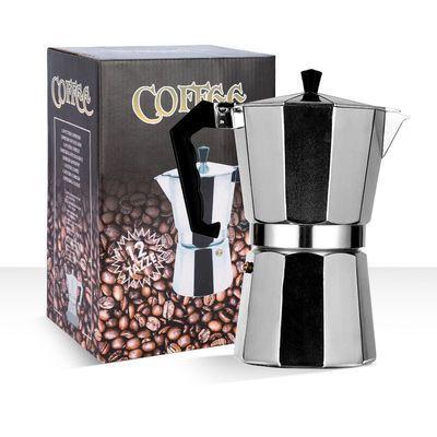 意大利摩卡壶煮咖啡壶电磁铝壶电炉子器具单阀八角手冲壶加热家用