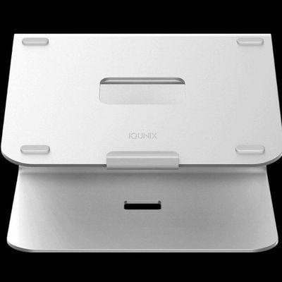 IQUNIX笔记本支架Macbook电脑桌面升降散热调节增高铝合金托架