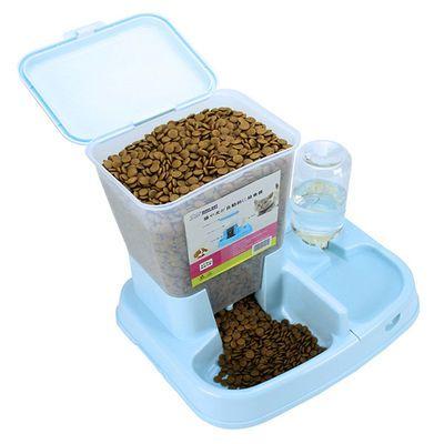宠物用品自动双用喂食器饮水器喂食器一体猫咪食盆猫碗狗碗狗盆