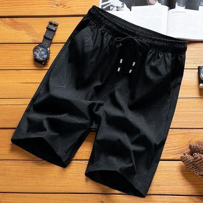 短裤男士夏季冰丝运动休闲5五分直筒宽松大裤衩沙滩4四分中裤子潮
