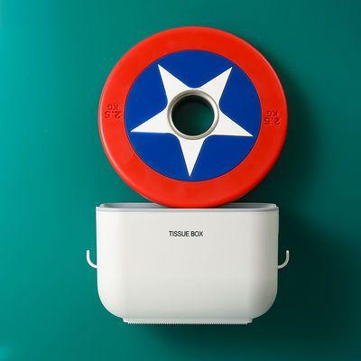 热销创意卫生间纸巾盒防水免打孔厕所浴室纸巾架洗手间抽卷纸盒置