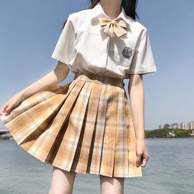 现货多色选择【jk两件套】2020夏季新款韩版jk制服日系百褶裙套装