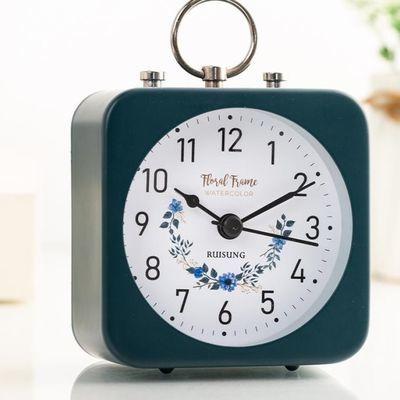 简约创意学生用小闹钟可爱卡通儿童专用钟表摆件静音床头电子时钟