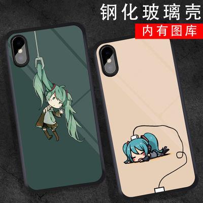 初音未来手机壳vivo动漫iQOONeo周边miku镜面y97玻璃壳x30定制diy
