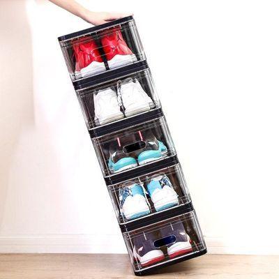 加大加高男款透明鞋盒鞋架椰子aj收纳盒球鞋展示盒鞋柜鞋墙展示柜