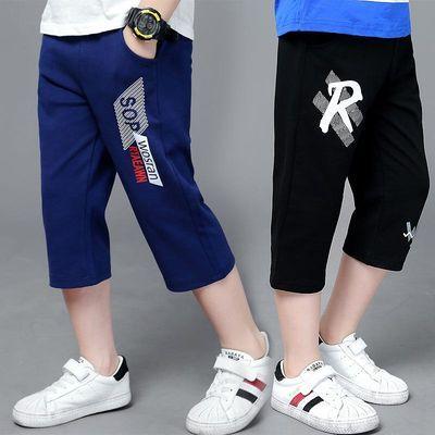 男童七分裤运动裤薄款5-7-9岁男孩夏季休闲裤韩版中大童夏装裤子8