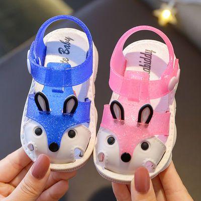 儿童包头防滑学步鞋夏季婴儿软底0-6岁网红男宝女宝居家外穿凉鞋
