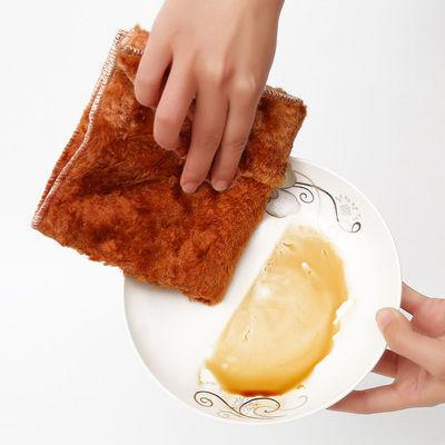 神奇抹布木纤维不沾油刷碗布厨房神器洗碗巾双层加厚吸水百洁布
