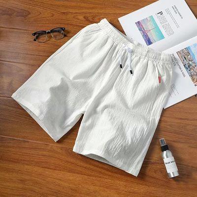 纯棉短裤男夏季纯色3分宽松睡裤四分休闲大码沙滩裤运动三分裤子