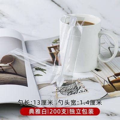 爆款500支/包一次性咖啡勺咖啡搅拌棒一次性塑料勺子调羹咖啡小勺