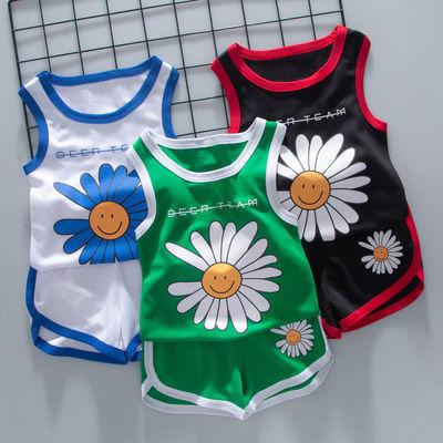 儿童夏季运动背心短裤套装男童篮球服中小学生女童夏训练速干球衣
