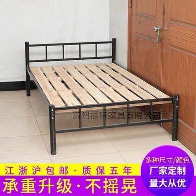 铁艺单人床成人1.2米员工宿舍双人床学生高低床双人钢铁架床简约
