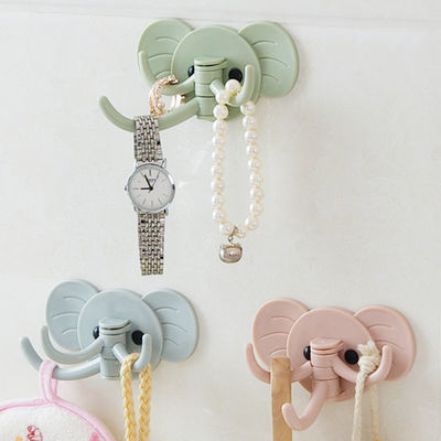创意可爱大象壁挂粘钩厨房浴室免钉门后挂钩多用粘胶无痕强力挂勾