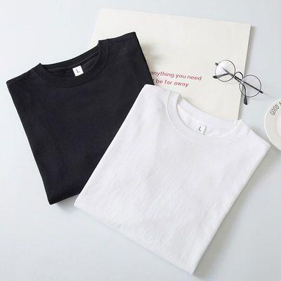 纯棉男士短袖t恤纯色半袖男装打底衫大码夏季韩版学生宽松体恤男