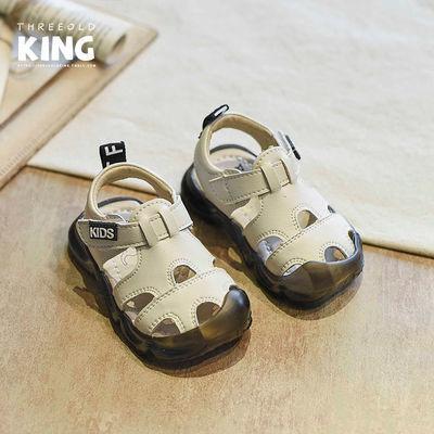 宝宝凉鞋男软底小童1-3岁2夏季防滑透气包头儿童沙滩鞋婴儿学步鞋