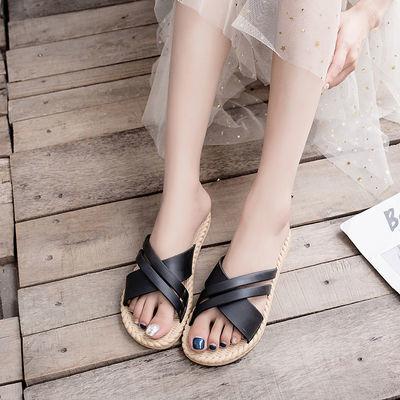 2020夏季网红凉拖女新款韩版沙滩时尚百搭女士防滑外穿人字拖鞋潮