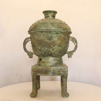青铜四足�[四脚布青铜器古玩古董铜器收藏品博物馆复制品影视道具