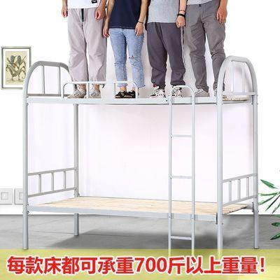 热销上下铺铁床学生宿舍高低床员工双层成人钢木架子床工地单人铁