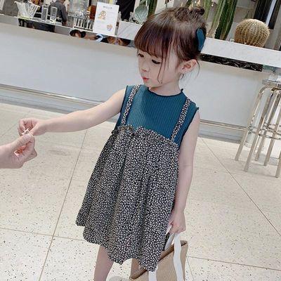 爆款女童裙子夏纯假两件洋气儿童裙子2020潮女童公主女宝宝连衣裙
