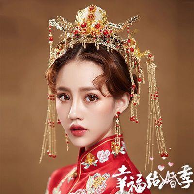 中式新娘古装头饰套餐新款秀禾服中式婚礼结婚流苏头饰婚礼凤冠