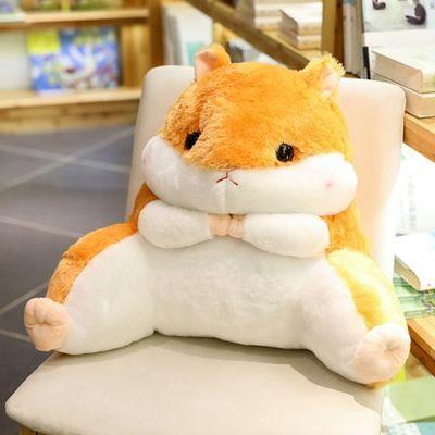 新款龙猫仓鼠学生腰靠椅子护腰枕靠枕靠背靠垫汽车办公室抱枕被子