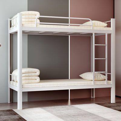 热销上下铺铁架床员工宿舍床两层学生铁床高低床两层成人上下床双