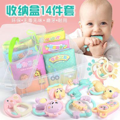 撕不烂婴儿布书可咬磨牙6-12个月手摇铃宝宝早教音乐玩具启蒙益智