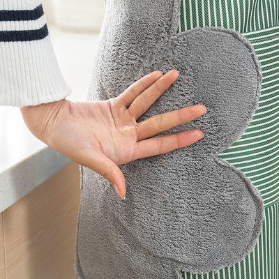 创新美家用可擦手防水围裙女围腰 日式厨房大人做饭防油罩衣男
