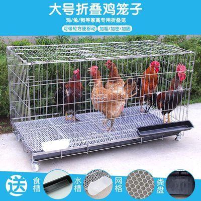 鸡笼特价包邮 全新加密特大号养殖鸡笼 折叠狗笼 家用蛋鸡笼 兔笼