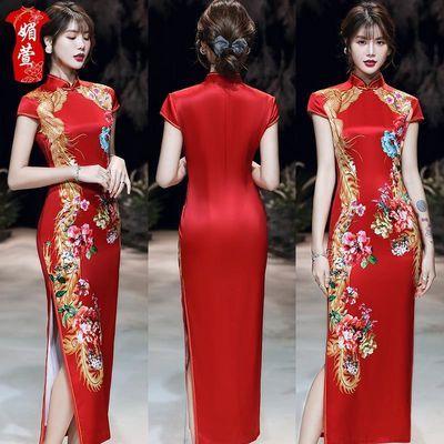 媚萱上海滩民国高端丝绸旗袍年轻款中国风女长款气质国风少女夏