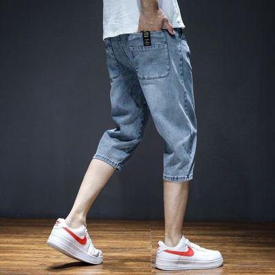 2020薄款夏季牛仔短裤直筒休闲五分裤男士青年中裤潮流韩版七分裤