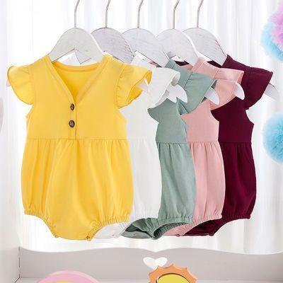 婴儿包屁衣连体衣飞袖夏装男女宝宝纯棉婴幼儿爬服新生儿宝宝衣服