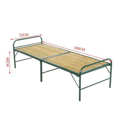 竹板床办公午休床折叠床加固竹条床单人双人床行军床竹床凉床竹条