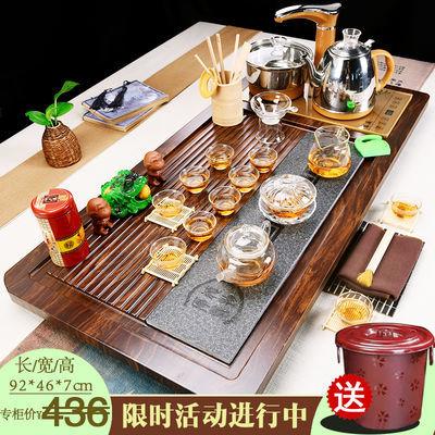 特价全自动功夫茶具套装四合一家用茶道配件实木茶盘紫砂陶瓷整套