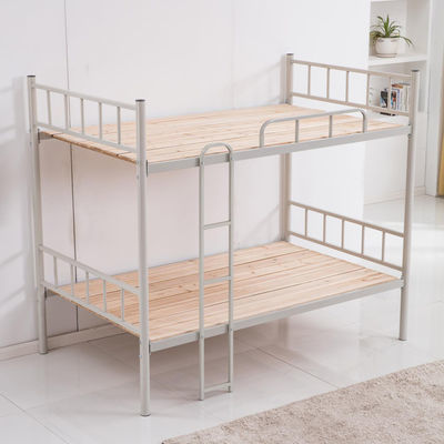热销上下铺铁架床员工宿舍高低床学生双层床成人上下铺铁艺床1.5m