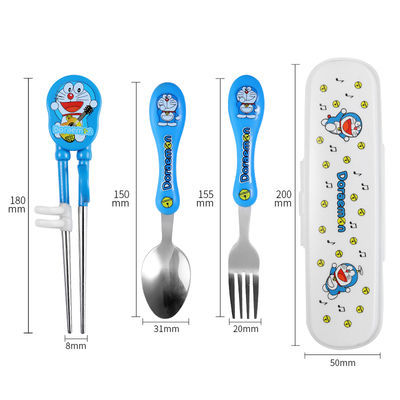 304不锈钢儿童学习训练筷子宝宝练习筷子儿童筷子勺子叉餐具套装