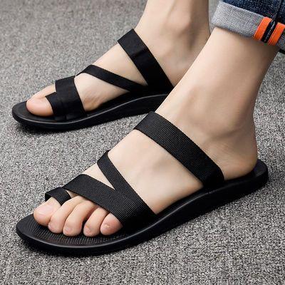 个性拖鞋男夏潮人韩版室外穿男士拖鞋软底越南沙滩鞋凉拖时尚休闲