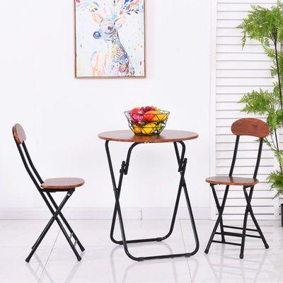 折叠椅子家用餐椅靠背椅培训椅折叠凳子圆凳阳台椅宿舍靠椅电脑椅