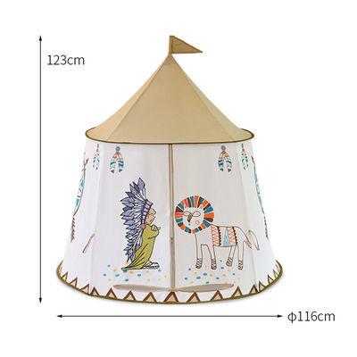 家用印第安蒙古玩具室内家庭儿童游戏屋垫子小狮子黄色简易搭建帐
