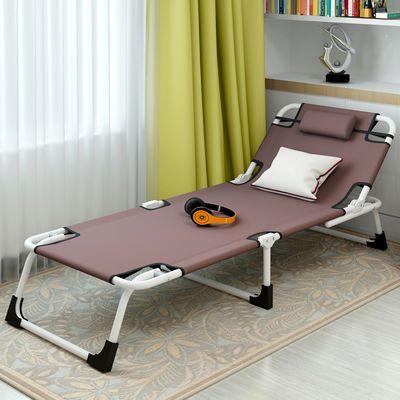 简易便携午休床办公室单人躺椅家用折叠床午睡床陪护床行军床睡椅