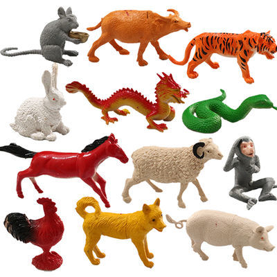 特价仿真塑胶十二生肖小动物模型静态早教恐龙动物模型儿童玩具