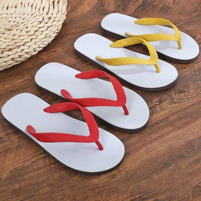 泰国天然纯橡胶男人字拖夏季凉拖鞋耐磨防滑金泰三角白底进口经典