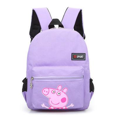 儿童帆布书包幼儿园定做印字大中小班可爱小猪2-4岁男女童宝宝潮