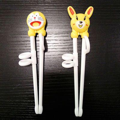 【2双特价】儿童练习筷子树脂学习训练筷婴儿宝宝学习筷餐具套装